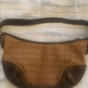 Small coach hobo purse